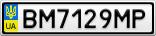 Номерной знак - BM7129MP