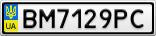 Номерной знак - BM7129PC