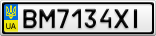 Номерной знак - BM7134XI