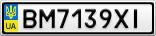 Номерной знак - BM7139XI