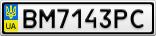Номерной знак - BM7143PC