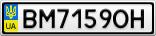 Номерной знак - BM7159OH