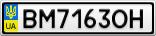 Номерной знак - BM7163OH