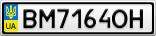 Номерной знак - BM7164OH