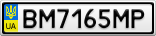 Номерной знак - BM7165MP