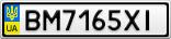 Номерной знак - BM7165XI