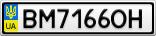 Номерной знак - BM7166OH