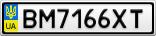 Номерной знак - BM7166XT