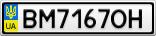 Номерной знак - BM7167OH