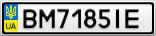 Номерной знак - BM7185IE