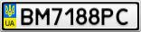 Номерной знак - BM7188PC