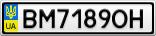 Номерной знак - BM7189OH