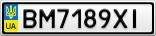 Номерной знак - BM7189XI