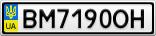 Номерной знак - BM7190OH