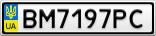 Номерной знак - BM7197PC