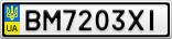 Номерной знак - BM7203XI