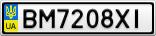 Номерной знак - BM7208XI