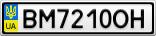 Номерной знак - BM7210OH