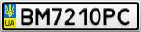 Номерной знак - BM7210PC