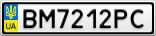 Номерной знак - BM7212PC
