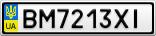 Номерной знак - BM7213XI