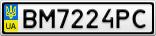 Номерной знак - BM7224PC