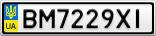 Номерной знак - BM7229XI