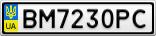 Номерной знак - BM7230PC