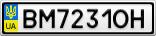 Номерной знак - BM7231OH