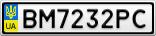 Номерной знак - BM7232PC