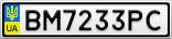 Номерной знак - BM7233PC