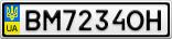 Номерной знак - BM7234OH