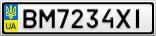 Номерной знак - BM7234XI