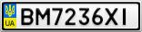 Номерной знак - BM7236XI