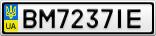 Номерной знак - BM7237IE
