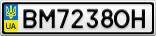 Номерной знак - BM7238OH