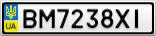 Номерной знак - BM7238XI
