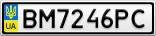 Номерной знак - BM7246PC