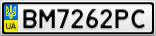 Номерной знак - BM7262PC