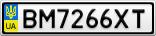 Номерной знак - BM7266XT
