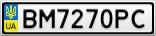 Номерной знак - BM7270PC