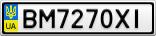 Номерной знак - BM7270XI