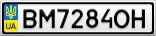 Номерной знак - BM7284OH