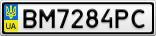 Номерной знак - BM7284PC