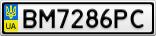 Номерной знак - BM7286PC