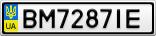 Номерной знак - BM7287IE
