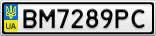 Номерной знак - BM7289PC
