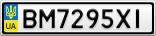 Номерной знак - BM7295XI