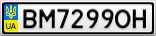 Номерной знак - BM7299OH