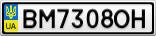 Номерной знак - BM7308OH